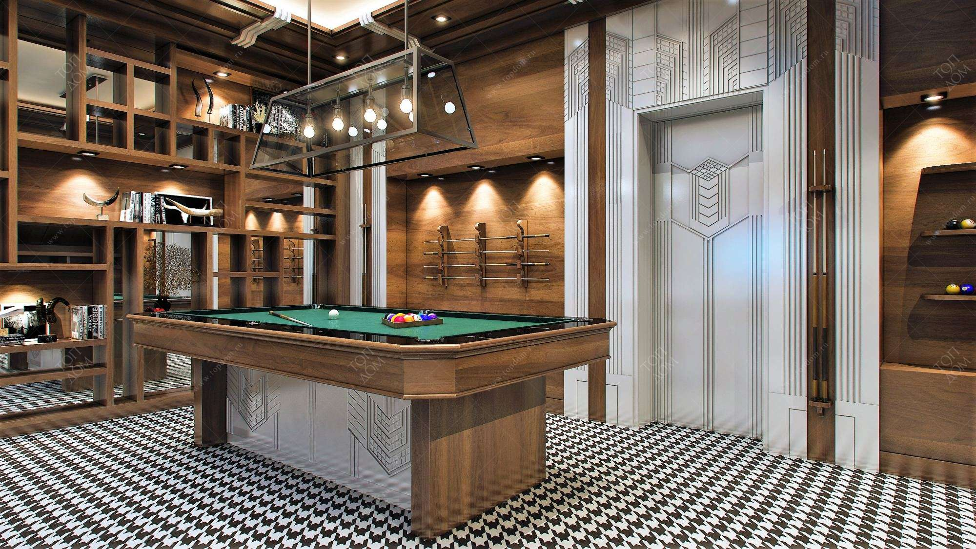 Дизайн помещения с бассейном