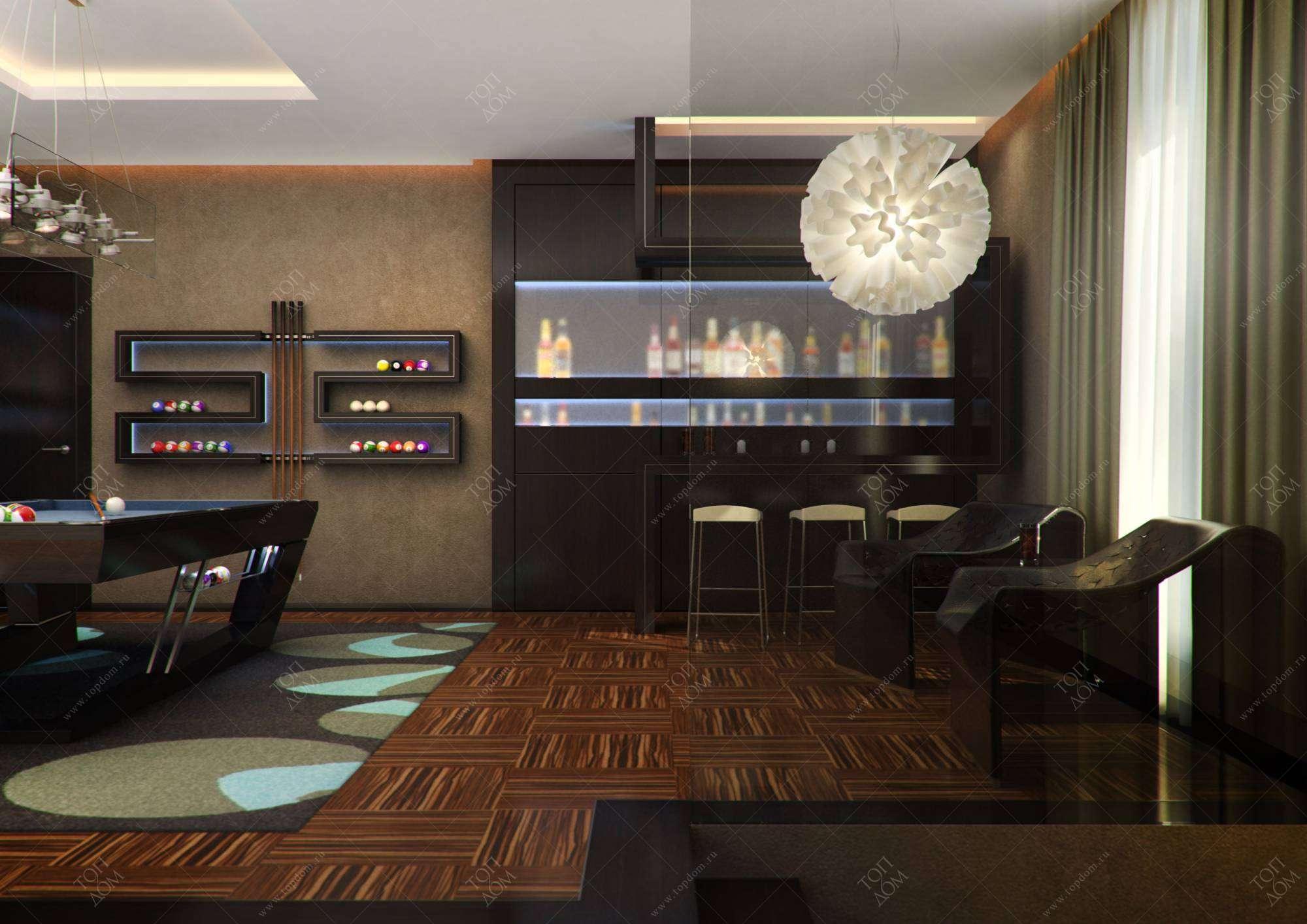 Бар дизайн комнаты