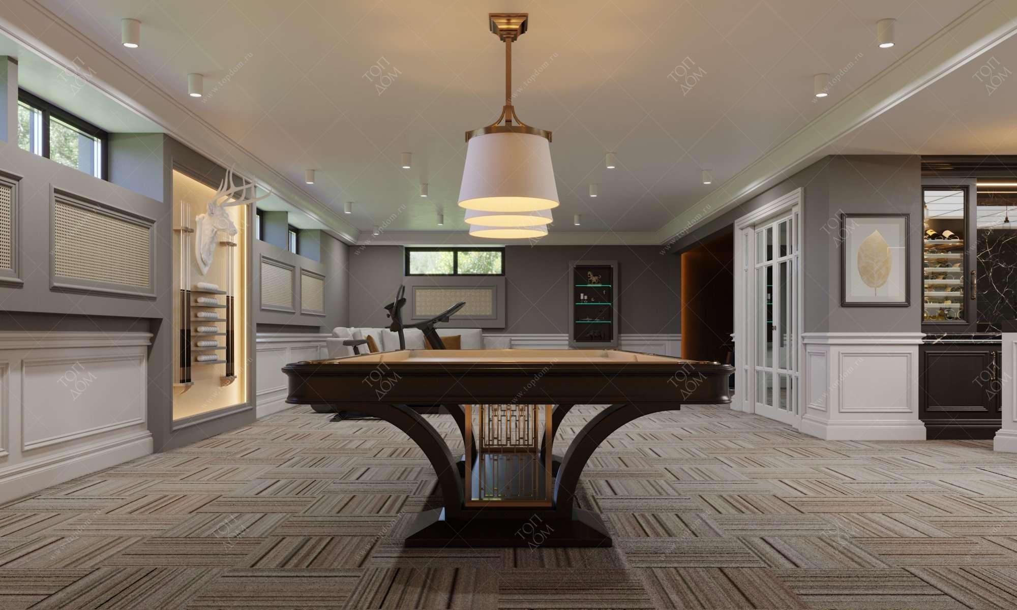 Фото дизайна бильярдной комнаты