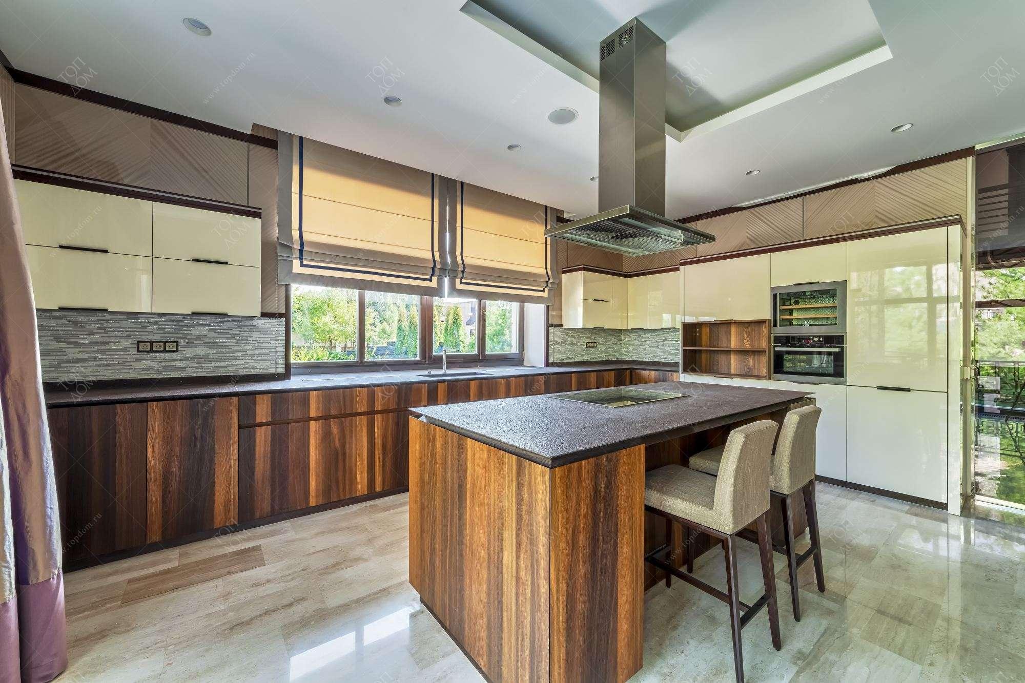 Тюль на кухню в современном стиле