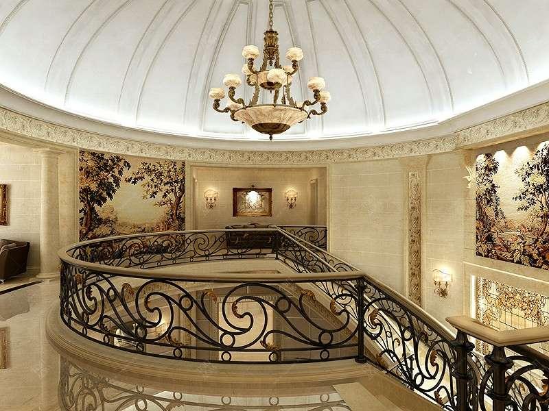 Проект дизайна лестницы и вестибюля в