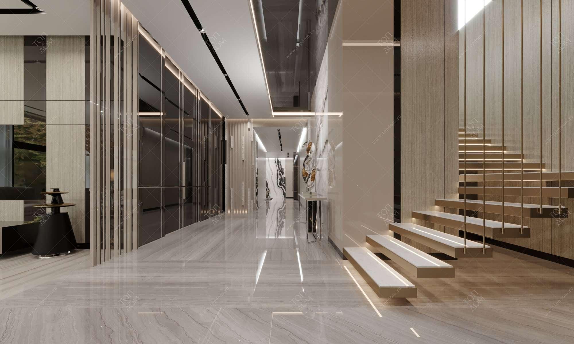 оформление дизайна входной двери в коттедж