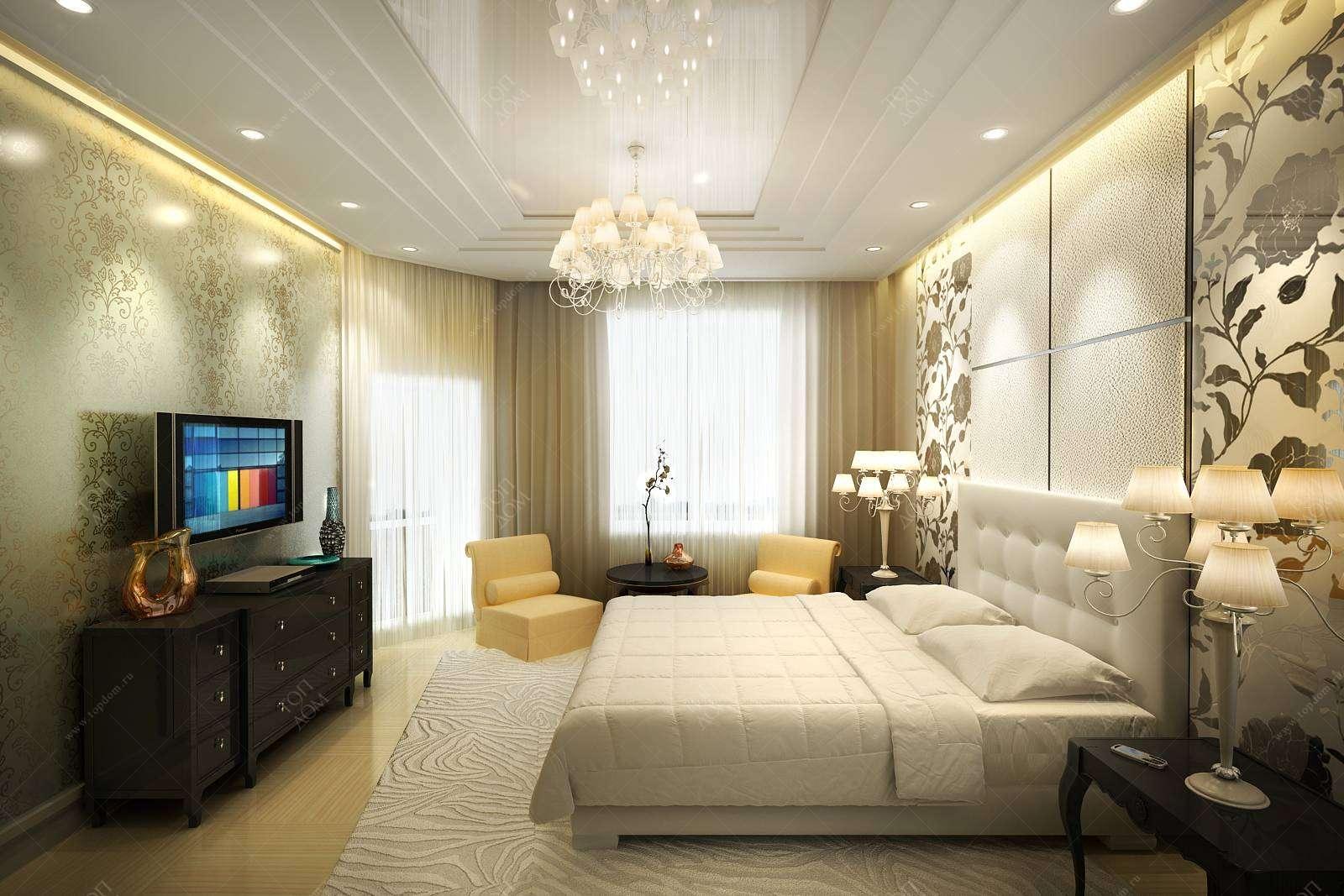 Дизайн проект спальни в загородном особняке