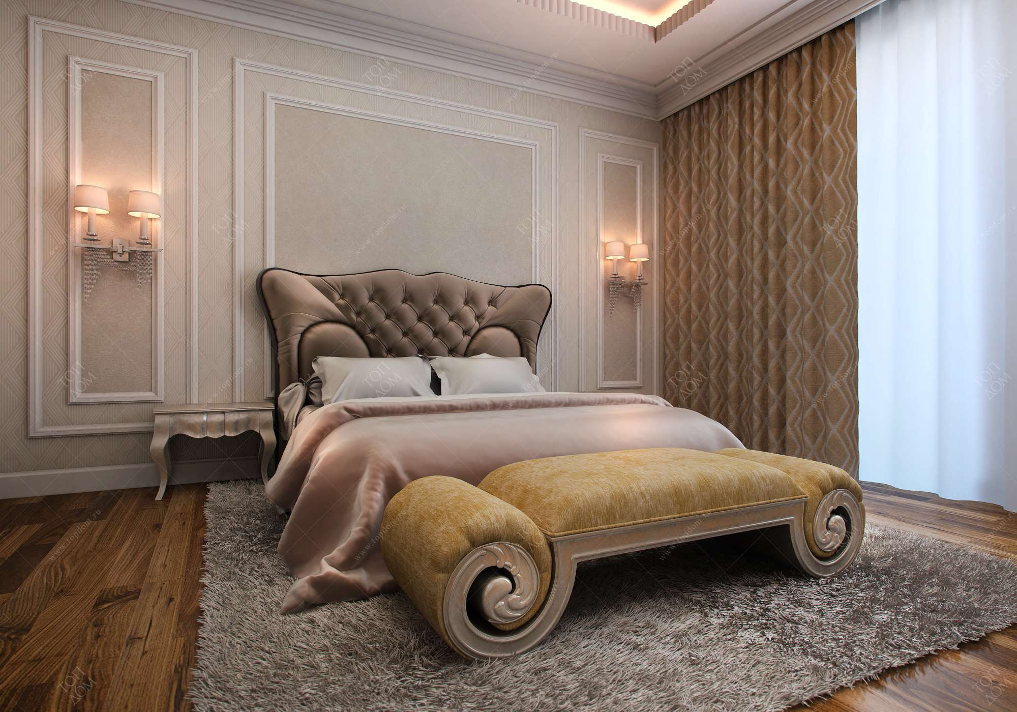 Дизайна спальни в загородном доме