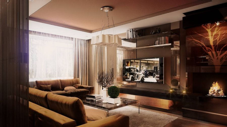 гостиная в таунхаусе фото