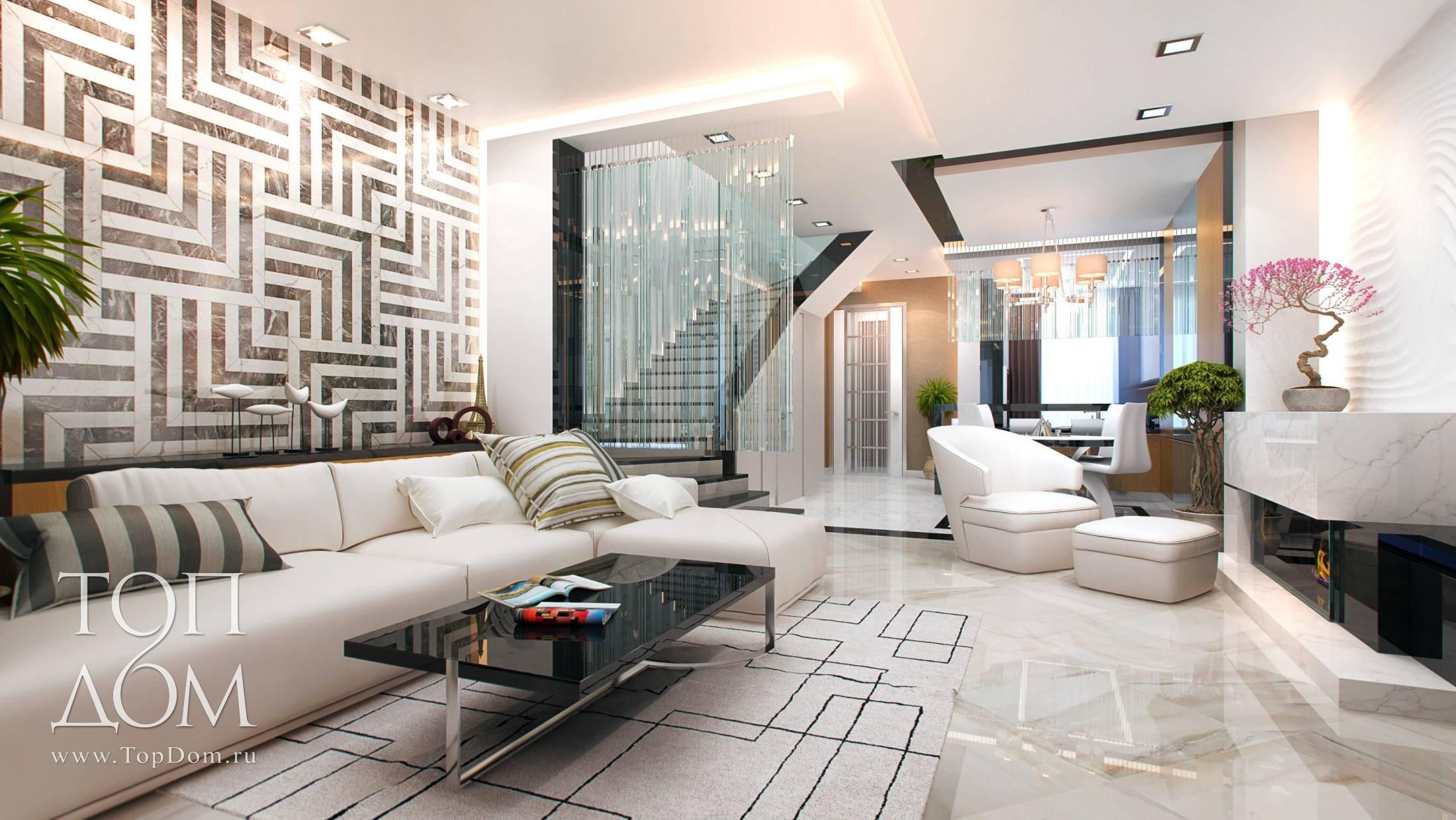 современные камины в интерьере гостиной фото