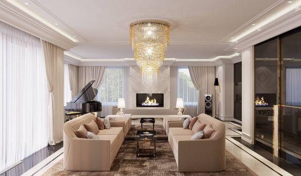Дизайн просторного интерьера зала