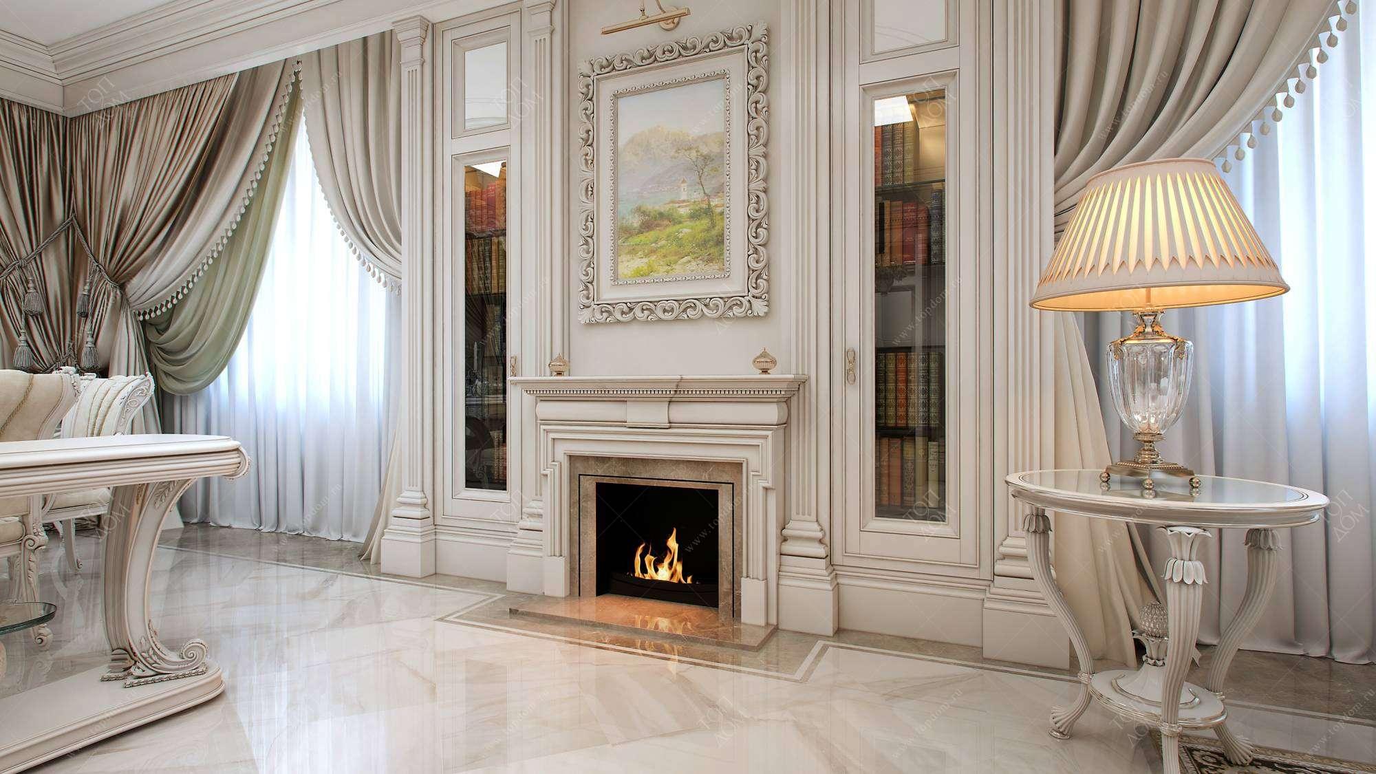 фотографии гостиной в классическом стиле с камином фото что может