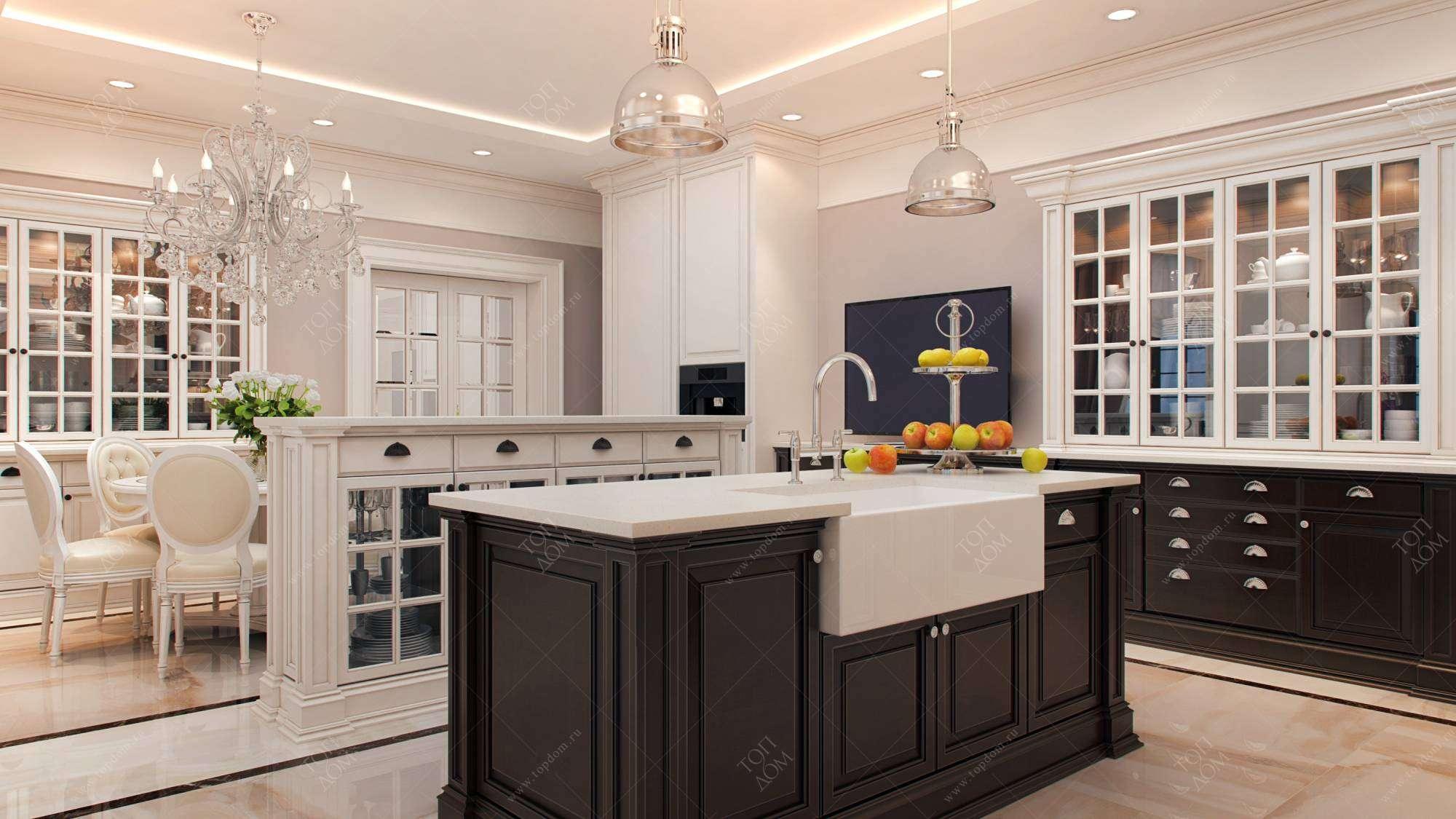 Дизайн кухни бежевого цвета фото