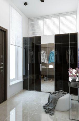 Интерьер с раздвижными шкафами