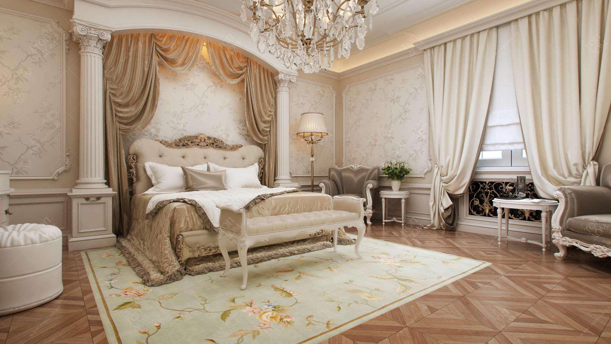 Спальни с колоннами дизайн