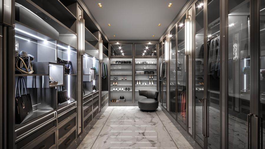 c35bbd7eef6b8 Дизайн интерьера гардеробной комнаты > 100 фото – от дизайн-проекта ...