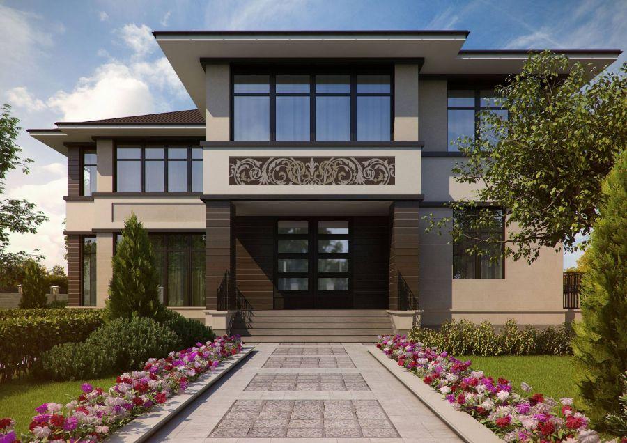 Дизайн экстерьера фасада частного дома