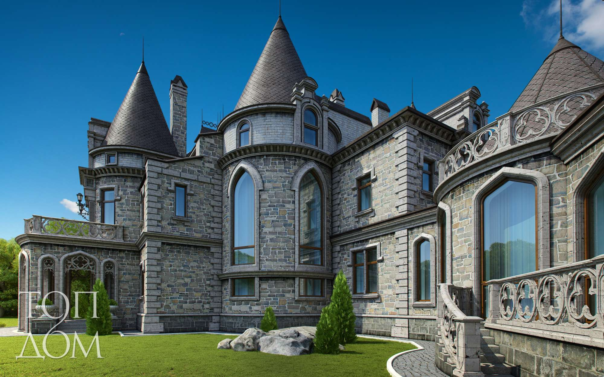 в замок стиле фото проекты домов