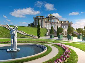 Общая площадь - 2200 м2.  Проект дворцового ансамбля в стиле русского ампира.