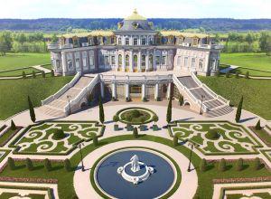 Общий вид дворца и территории.