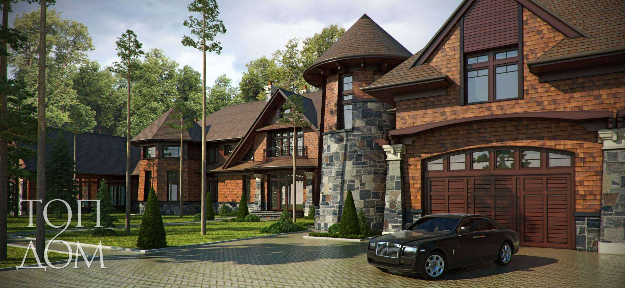 Дизайн экстерьера загородного дома в