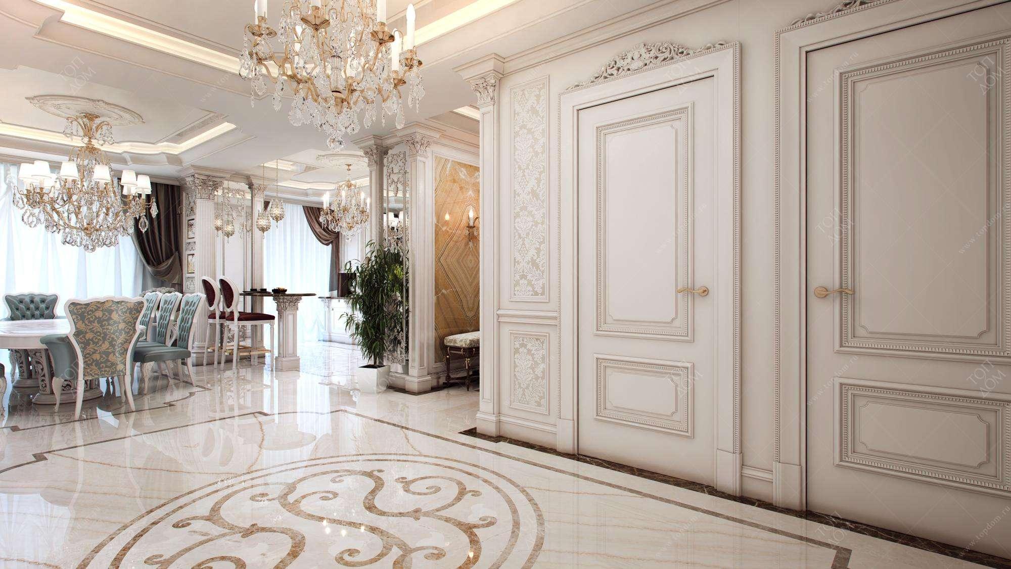 Проект дизайна гостиной в