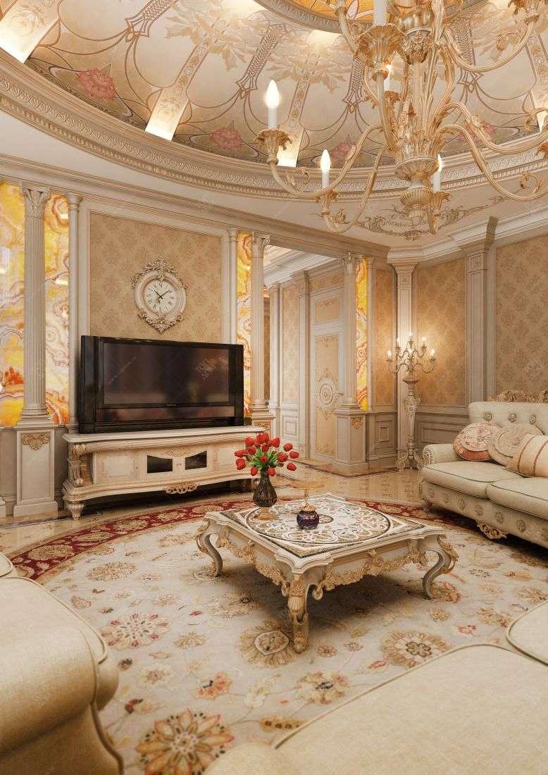 Гостиной в классическом стиле в 2 х