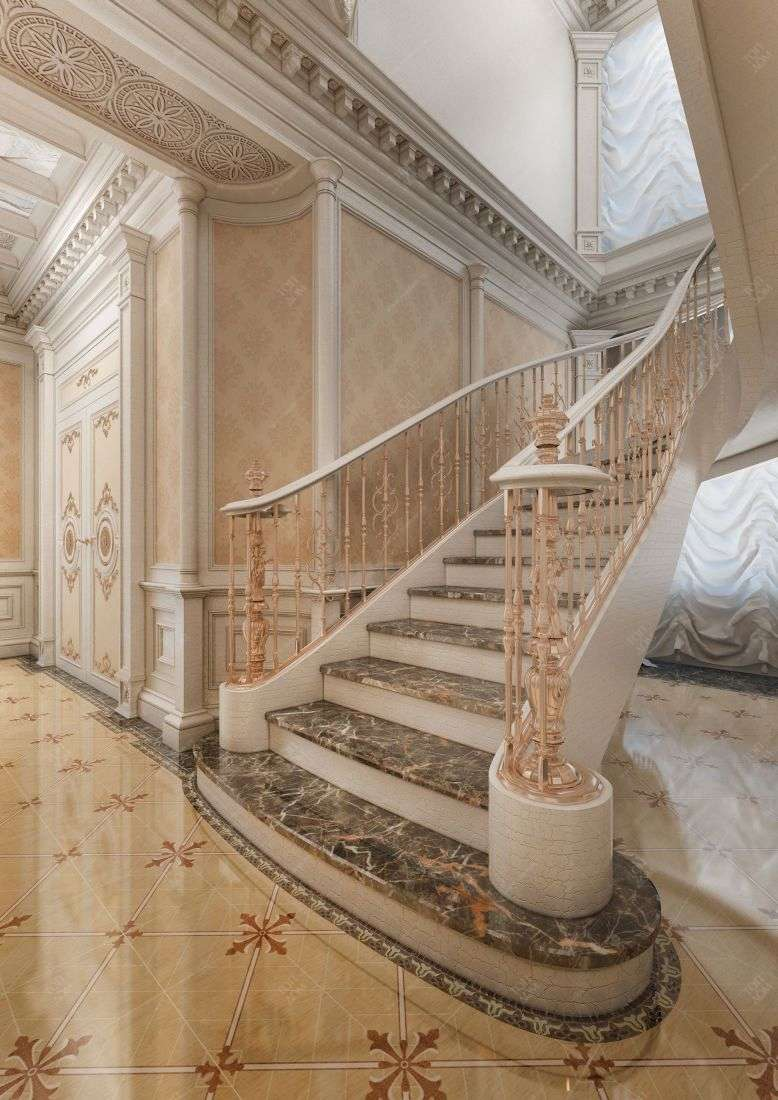 Дизайн холла в классическом стиле в 2 х