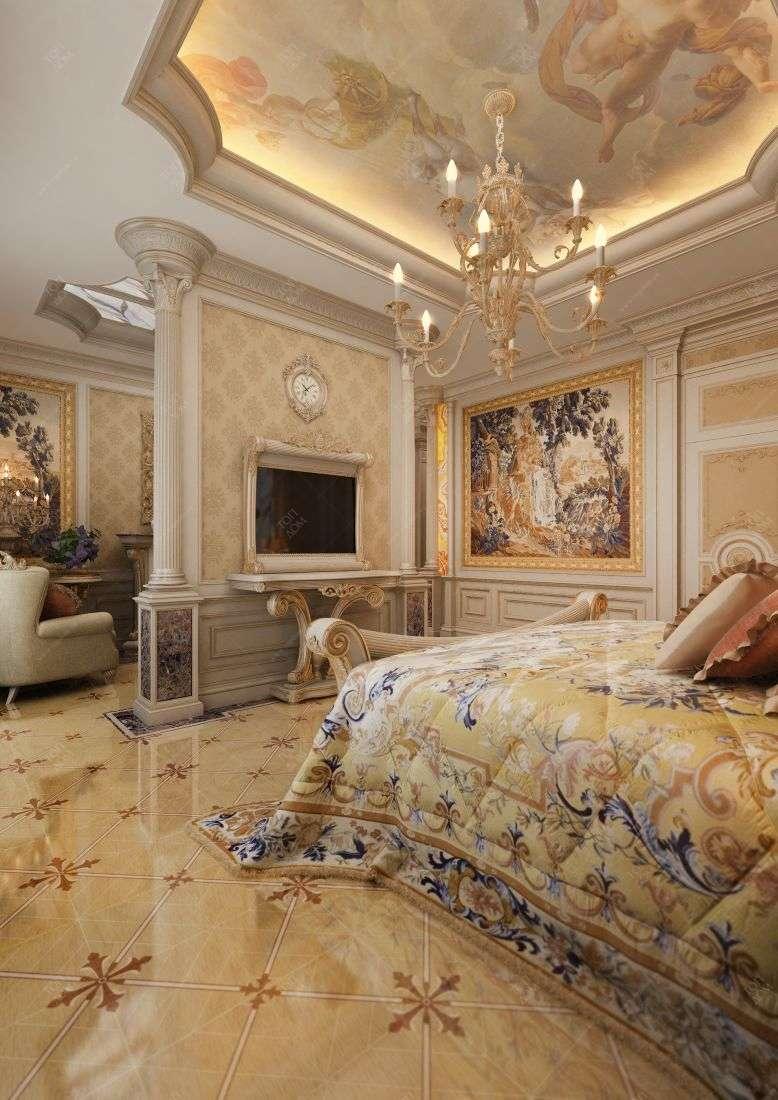Комната в золотом цвете