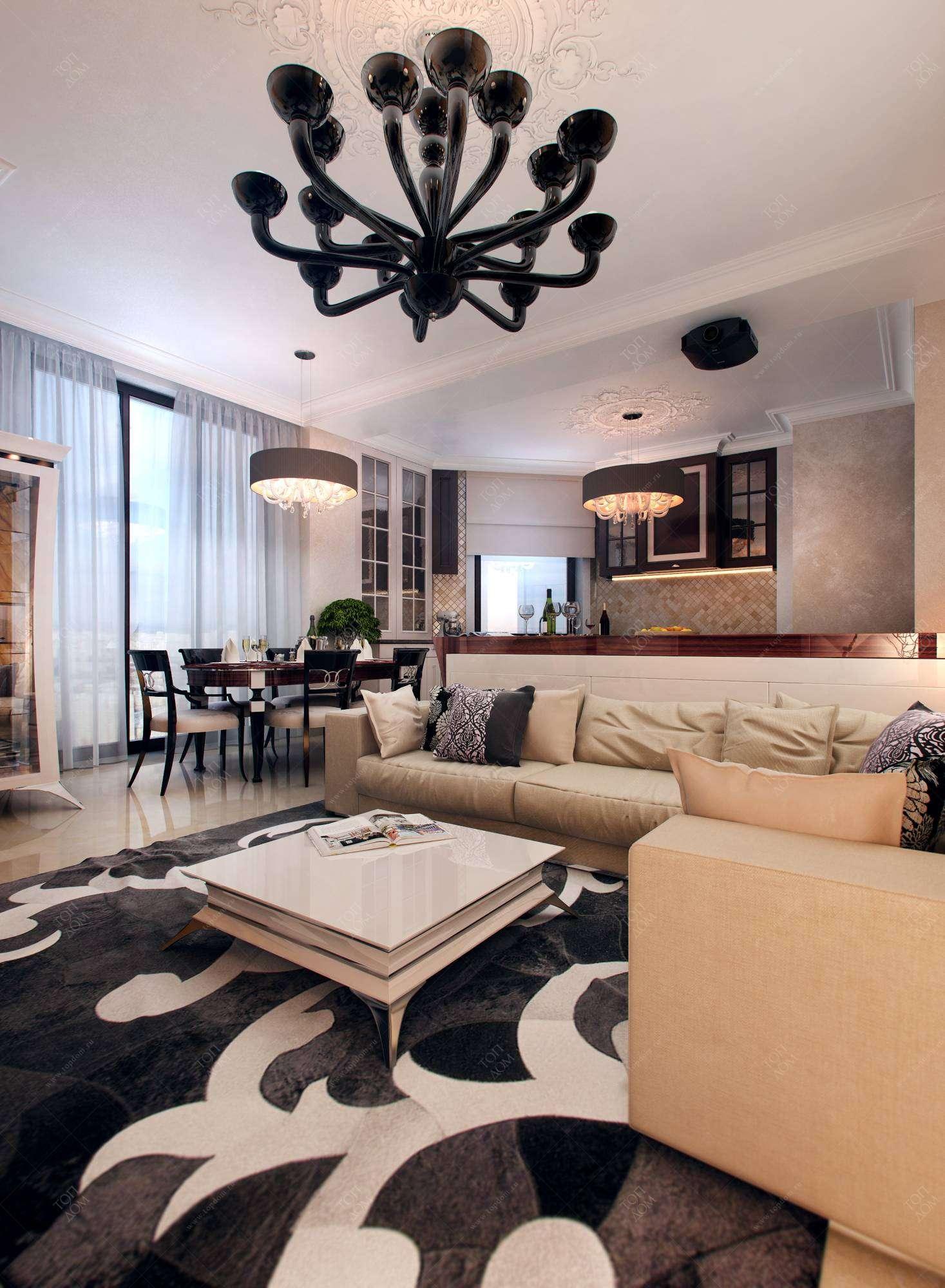 Фото дизайна интерьера гостиной в