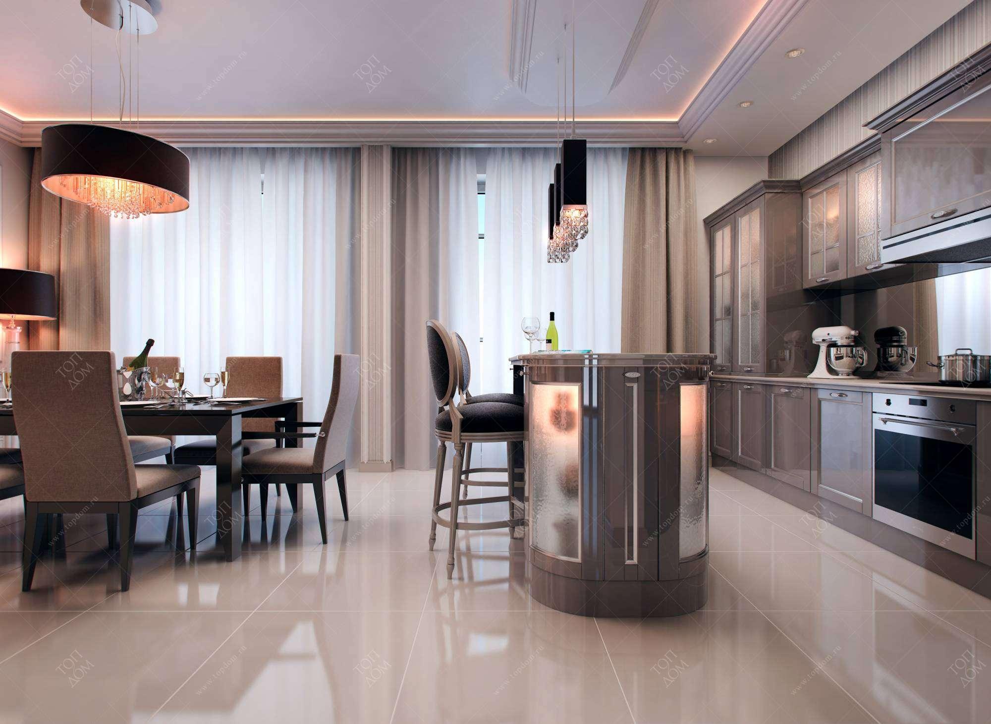 Дизайн проект кухни столовой фото