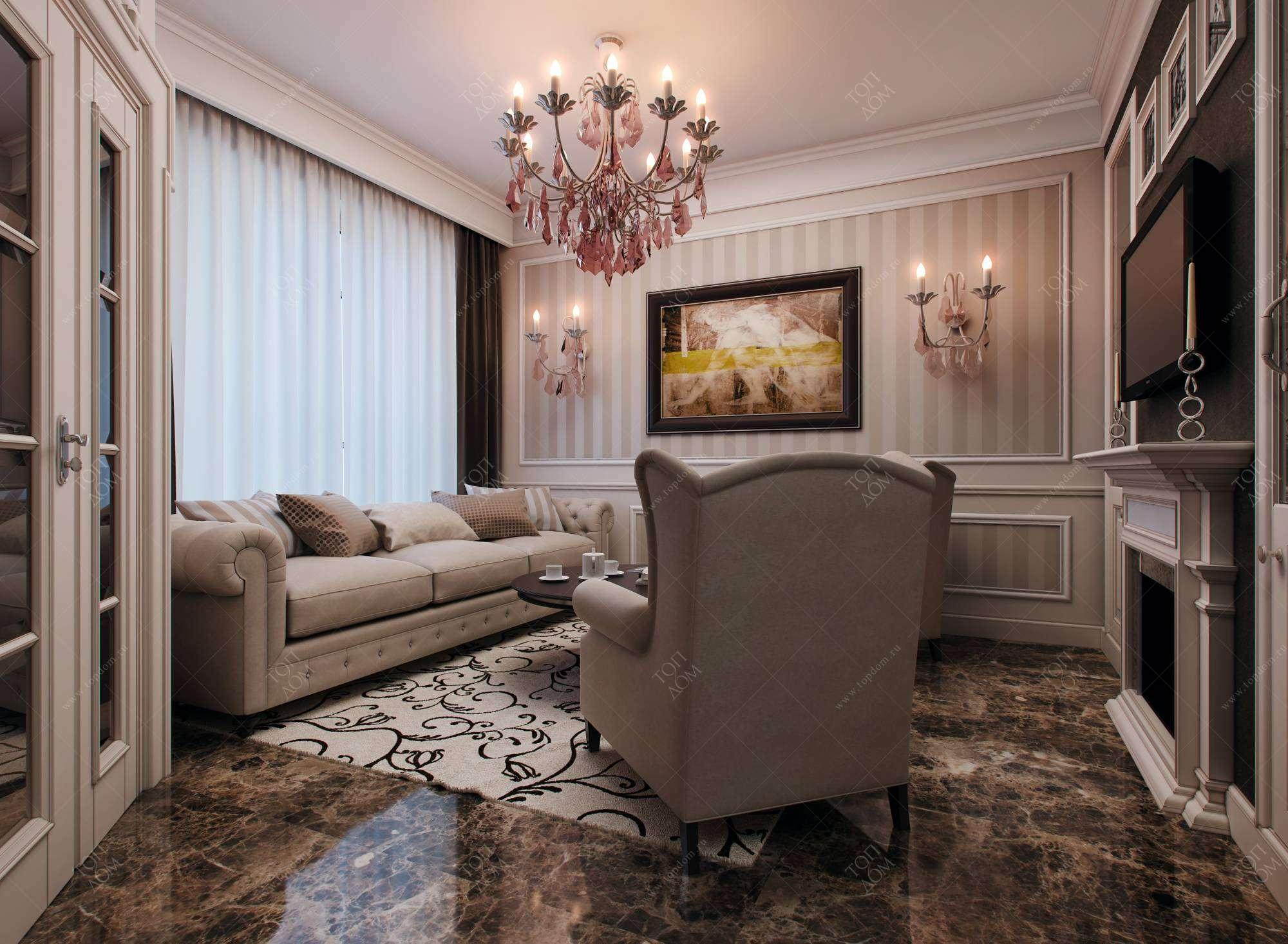 Классическая Светлая Мебель Для Гостиной