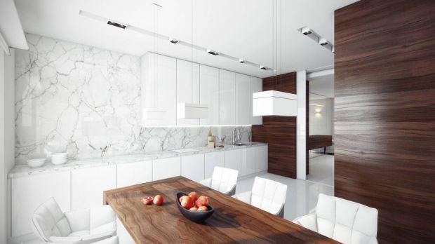 Современный дизайн кухни с элементами под дерево