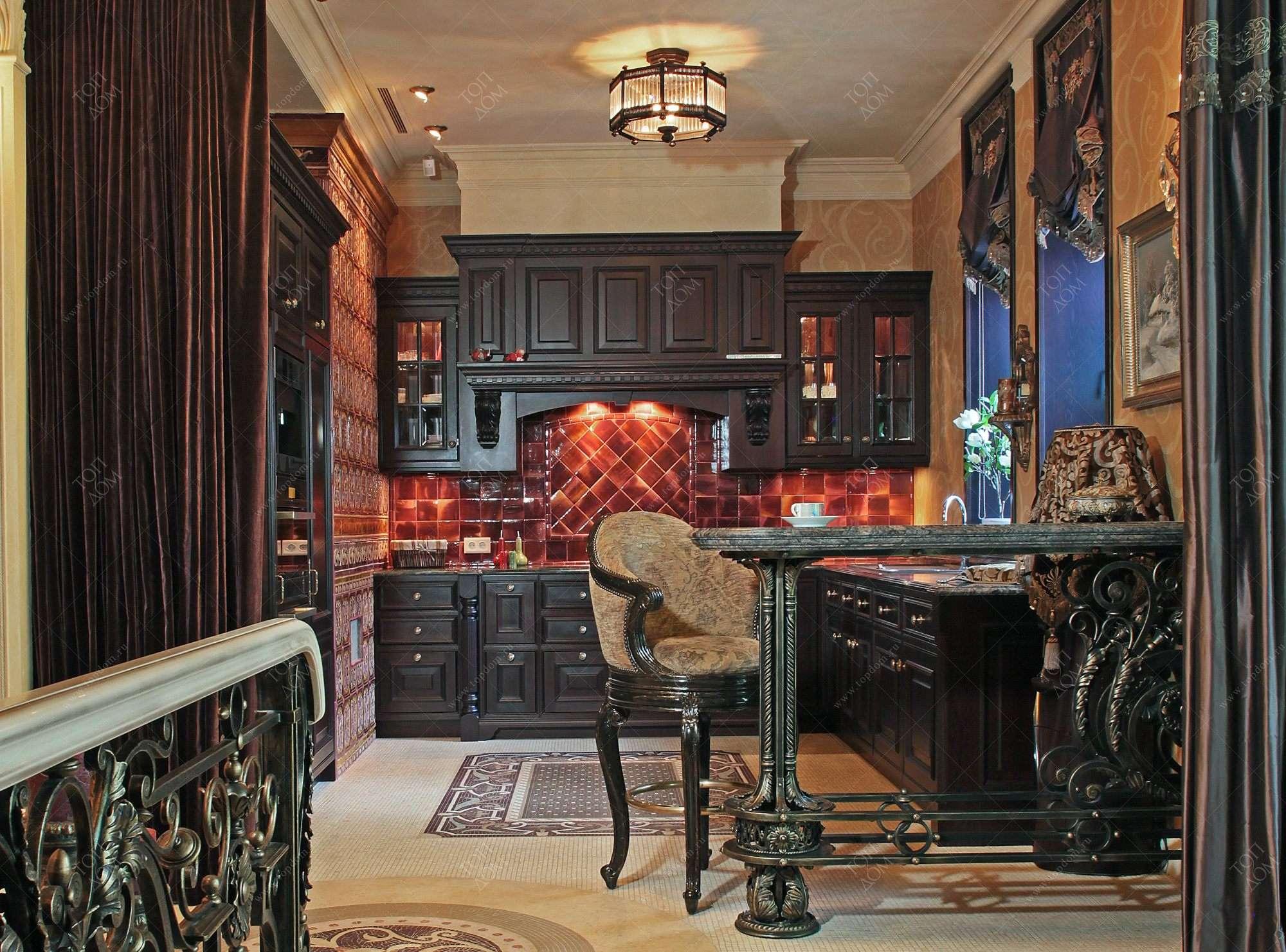 дизайн кухни гостиной фото - фотография.
