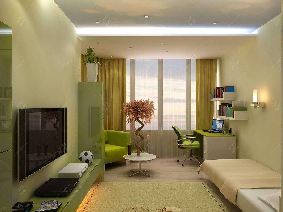 Проект дизайна интерьера спальни