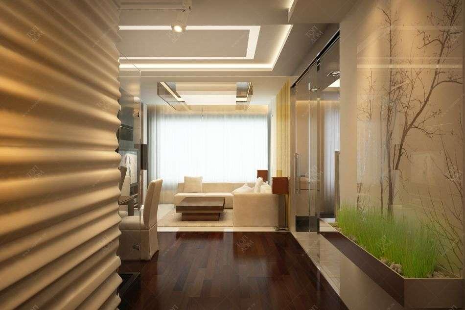 Дизайн интерьера холла и гостиной в