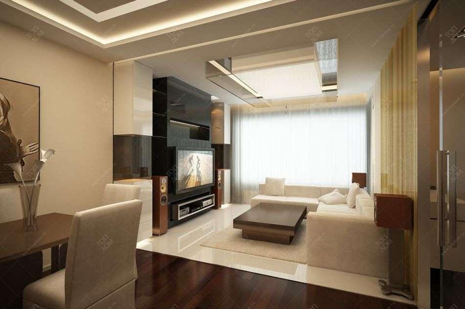 Дизайн квартиры с белым диваном