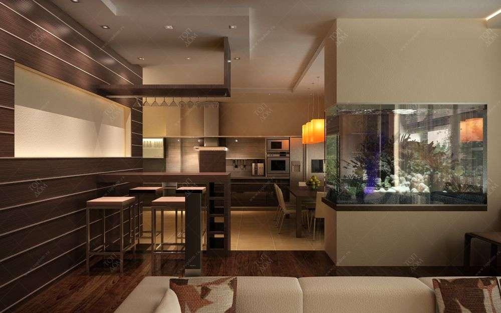 Интерьер проект кухни столовой в