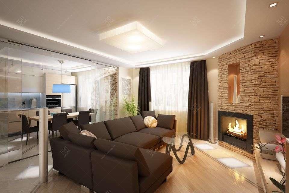 Проект дизайна гостиной в квартире