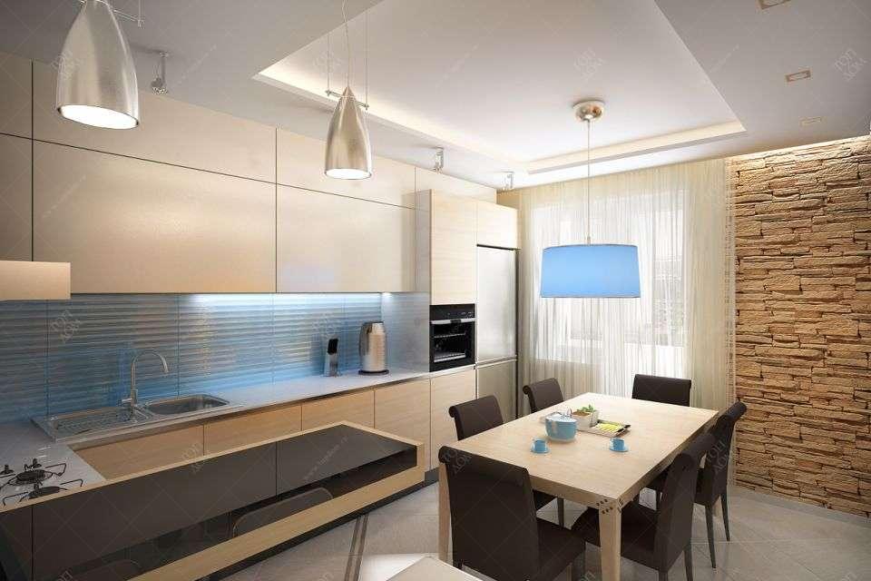 Проект дизайна кухни в квартире