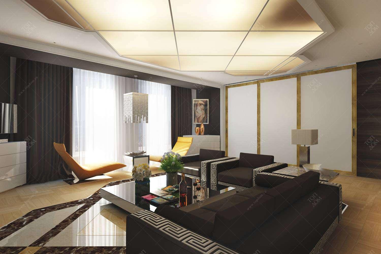 Дизайн проект гостиной в квартире в