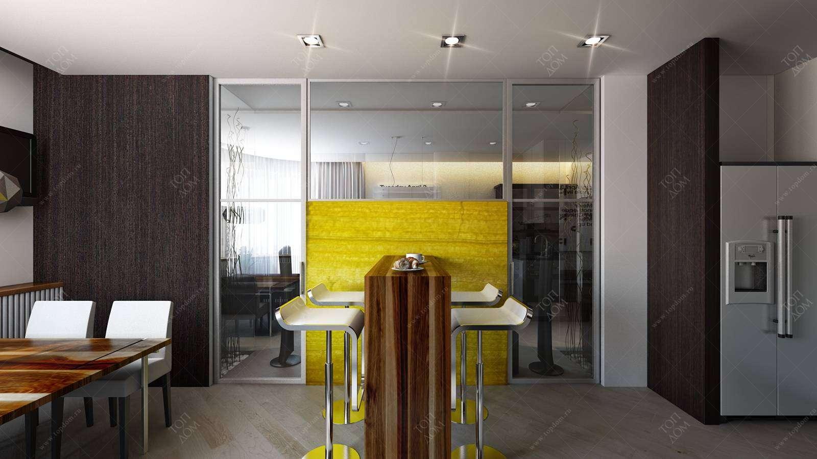 Дизайн кухни в стиле модерн в жк