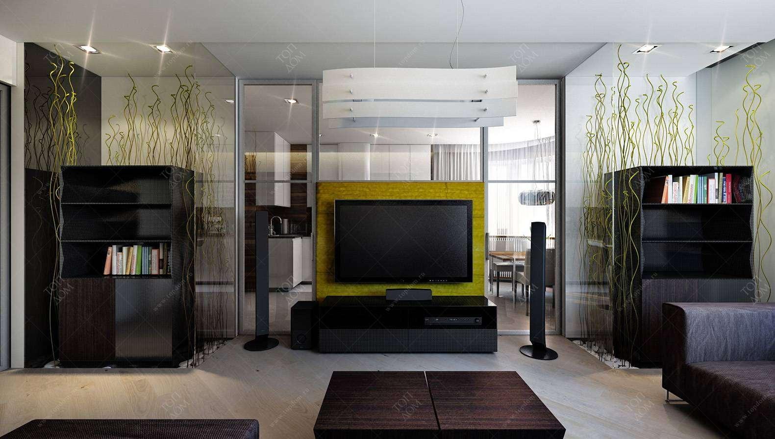 Дизайн гостиной в стиле модерн в жк