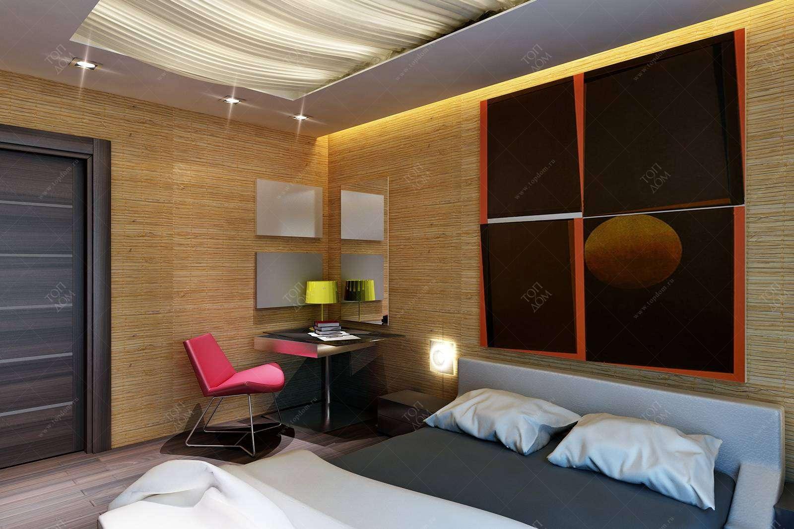 Дизайн спальни в стиле модерн в жк