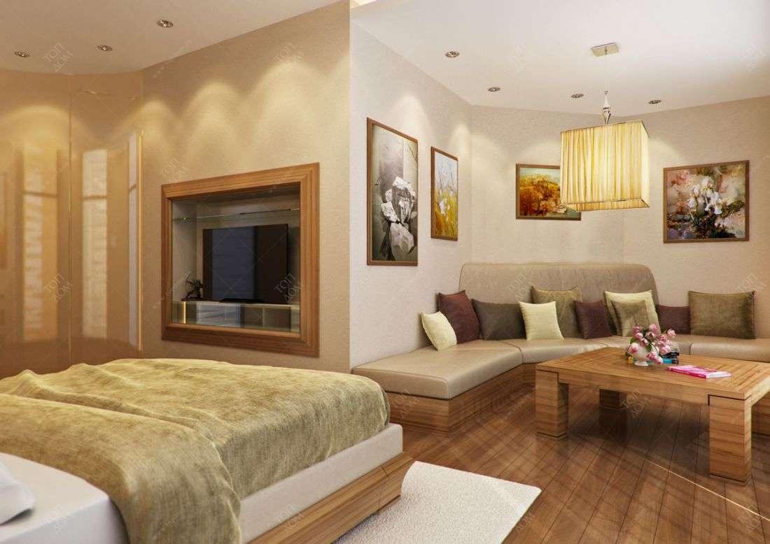 Интерьер спальни в четырехкомнтаной