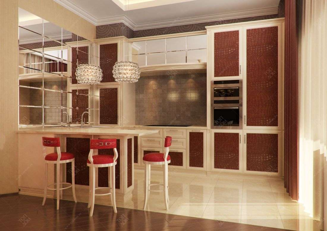 Дизайн кухни в трехкомнтаной квартире