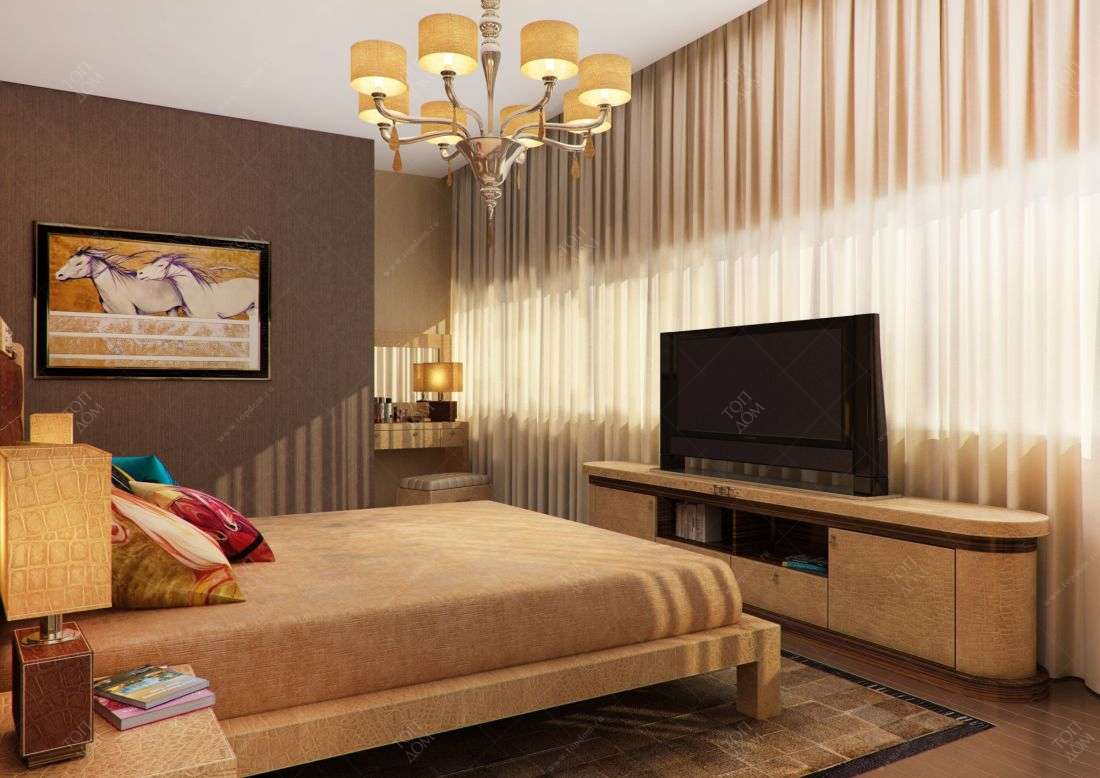 Дизайн спальни в трехкомнтаной