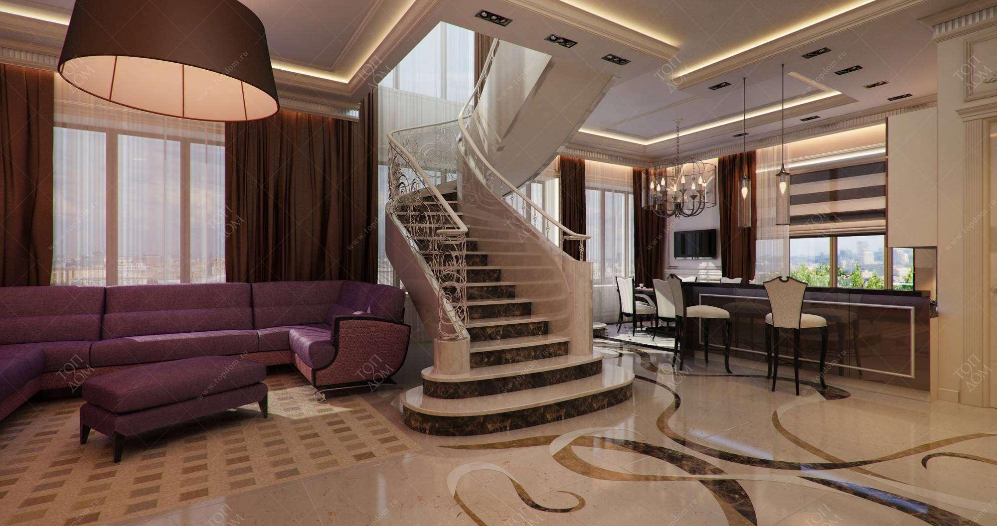 Дизайн двухуровневой квартиры дизайн