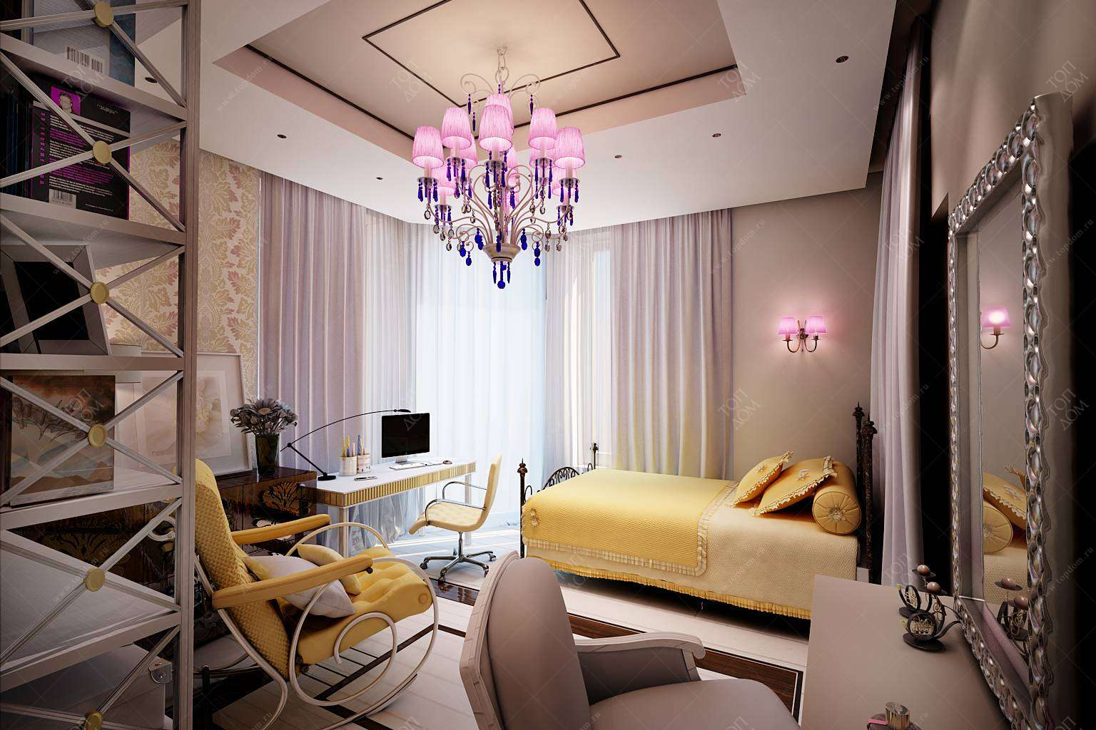 Дизайн спальни 25 кв.м