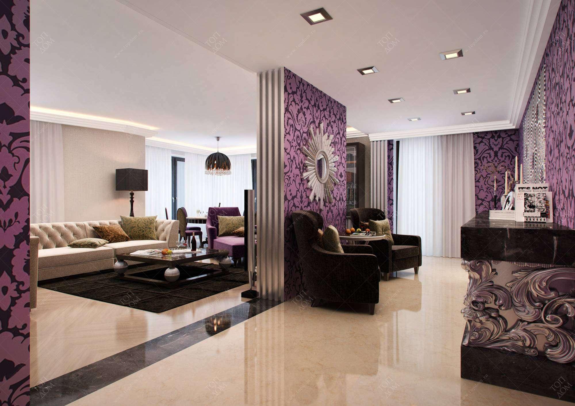 Фото интерьера современной гостиной и