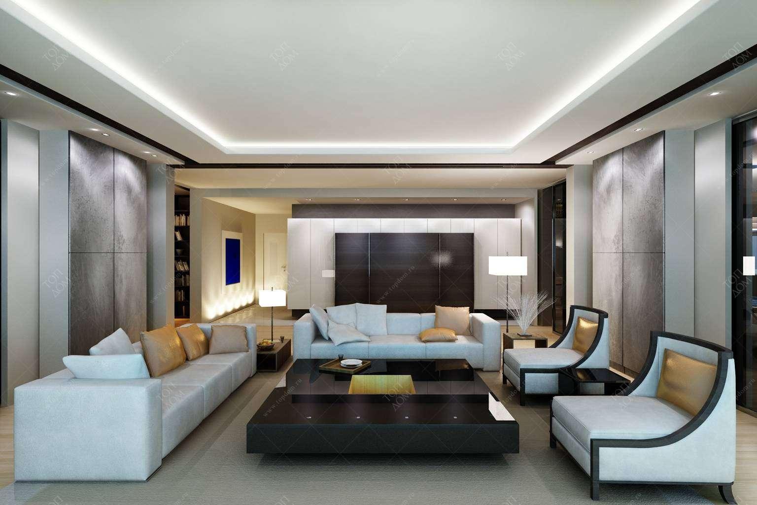 Проект дизайна интерьера столовой в