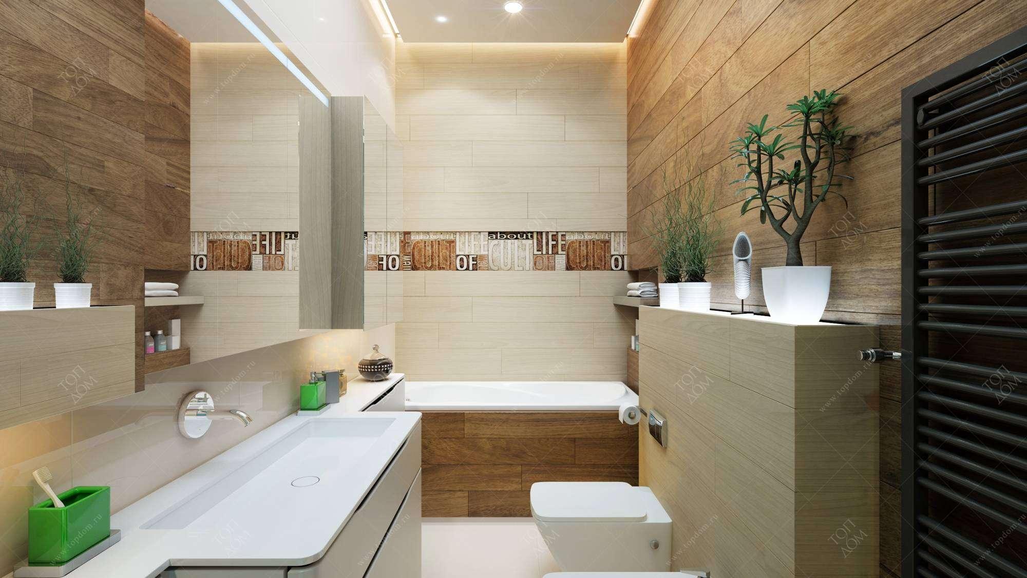 Современный дизайн туалета и ванной