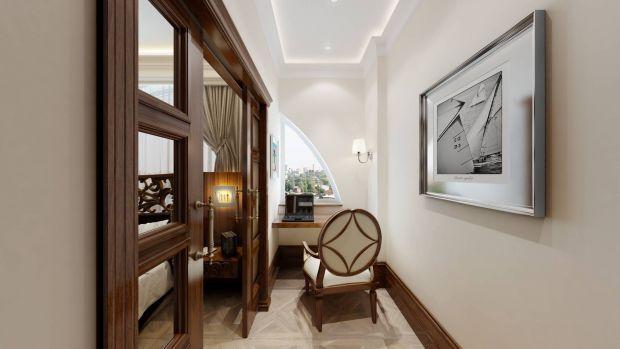 Небольшой узкий кабинет в квартире