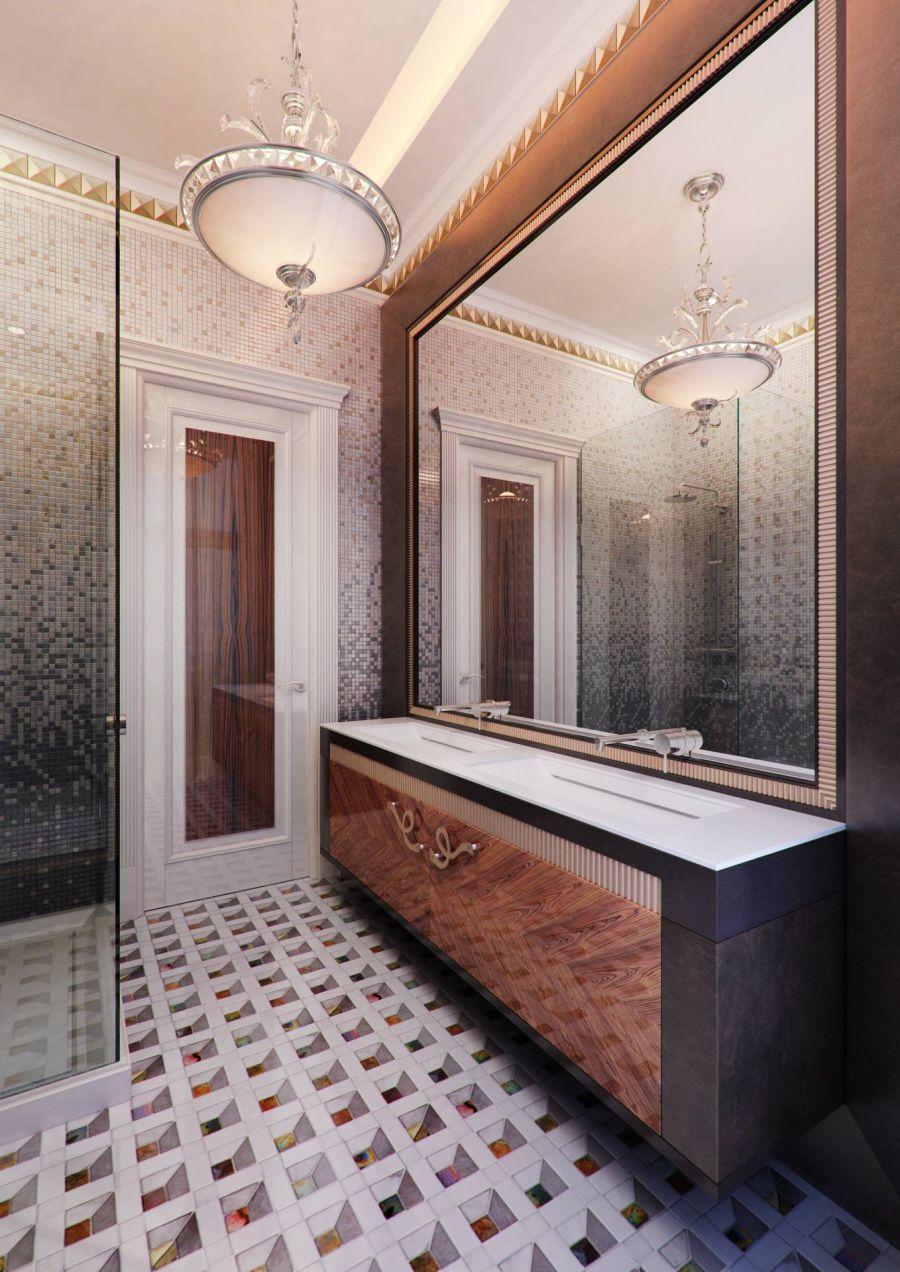 Эксклюзивный интерьер большой ванной комнаты
